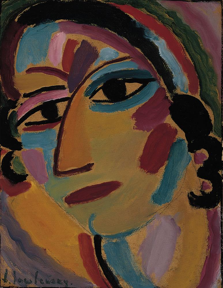Alexej von Jawlensky, Mystischer Kopf - Galka, 1917, Norton Simon Museum, The Blue Four Galka Scheyer Collection