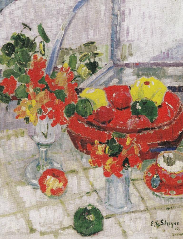 Emmy E. Scheyer, Stillleben, 1915, Kunstmuseum Bern