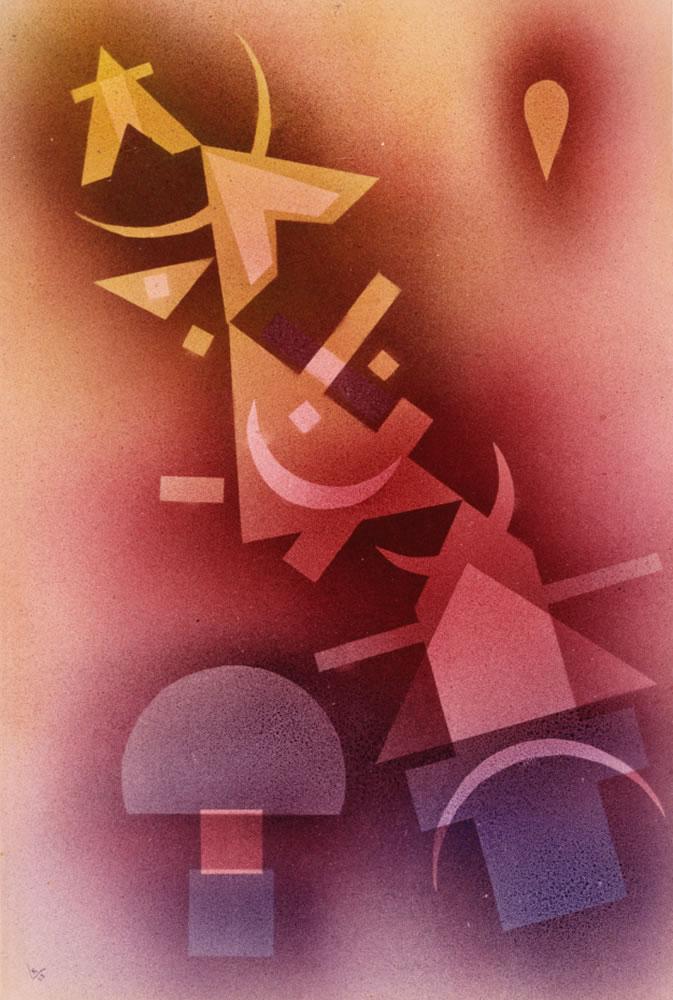 Wassily Kandinsky, Aus kühlen Tiefen, 1928, Norton Simon Museum, The Blue Four Galka Scheyer Collection