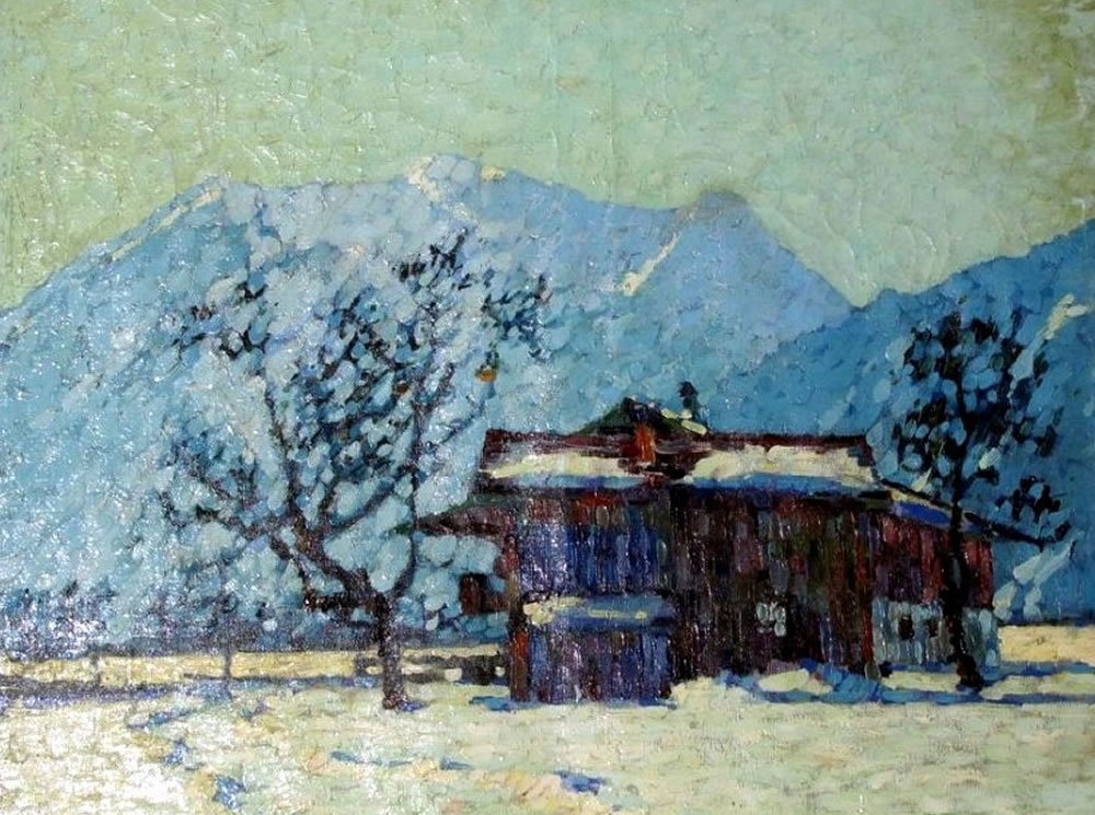 Albert Hamburger, Winter, Private Collection, Pittsburgh
