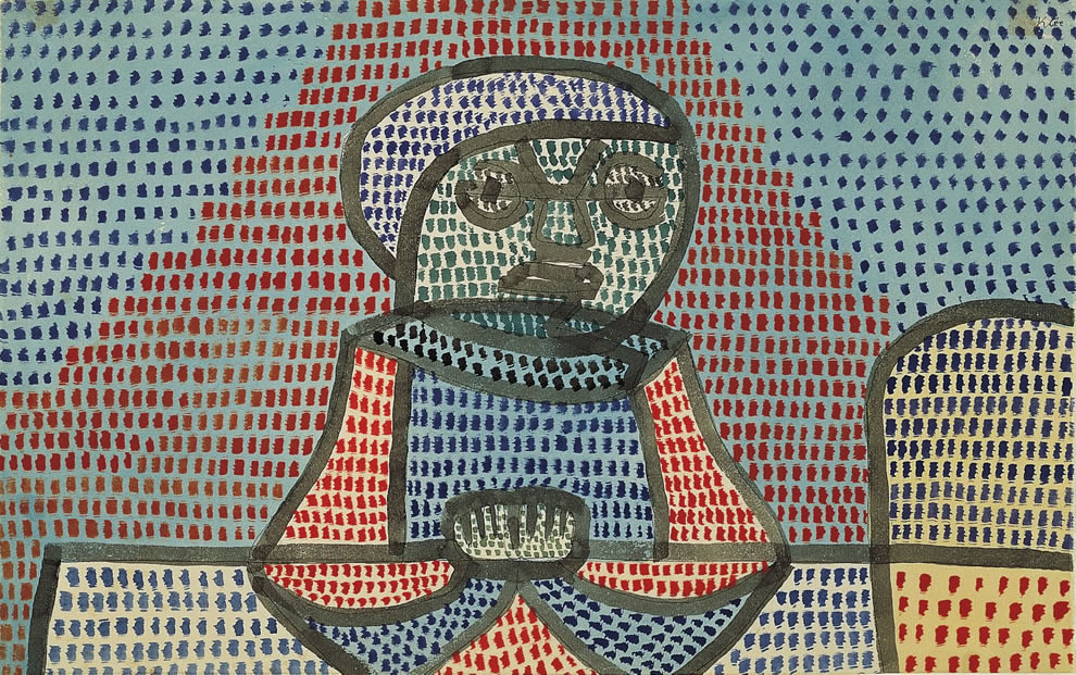 Paul Klee, Boy at Table, 1932, Norton Simon Museum, The Blue Four Galka Scheyer Collection