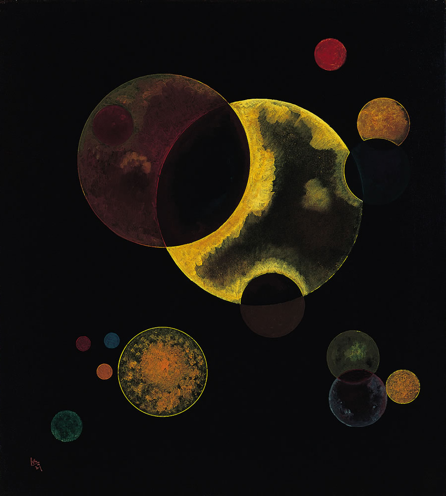 Wassily Kandinsky, Heavy Circles, 1927, Norton Simon Museum, The Blue Four Galka Scheyer Collection